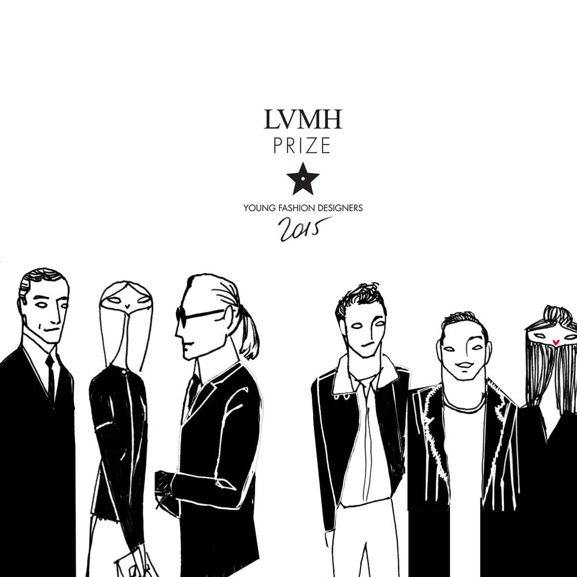 Drawing of the jury of the LVMH prize