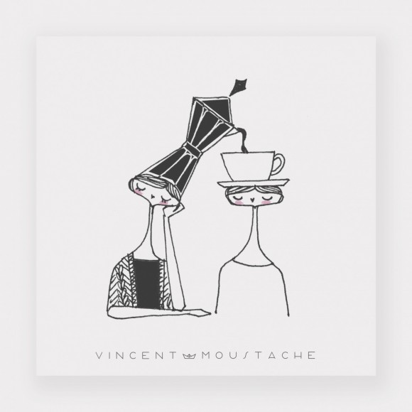 Print . COFFEE FOR TWO 30 X 30
